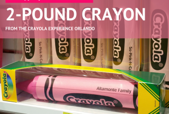Introducing Our 2-Pound Crayon From The Crayola Experience Orlando Store