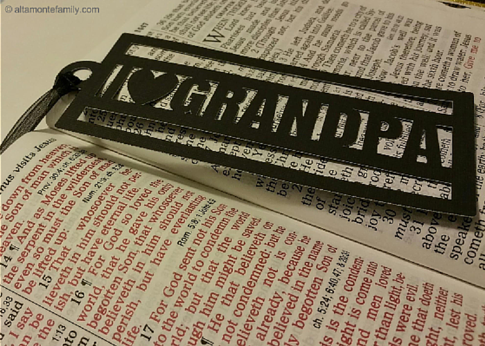 DIY Bookmark using Cricut Explore Air
