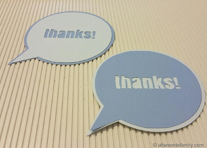 Thank You Sentiments and Cards using Cricut Explore Air