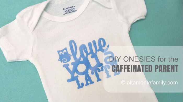 Personalized Baby Onesies are so easy to make with the Cricut Explore Air