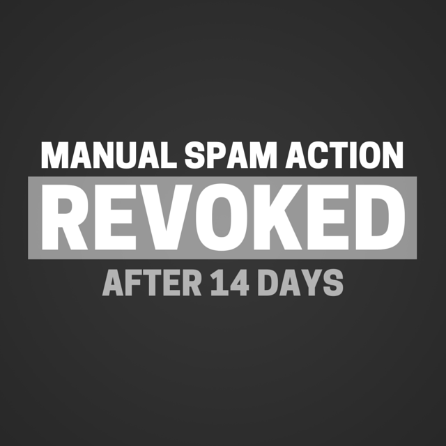 MANUAL SPAM ACTION REVOKED AFTER 14 DAYS HACKED WORDPRESS BLOG
