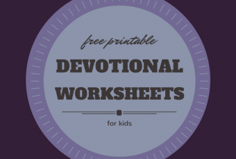FREE Printable Devotional Worksheet For Kids