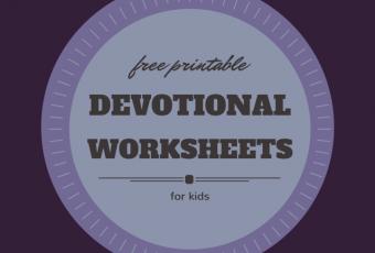 free printable devotional worksheets for kids