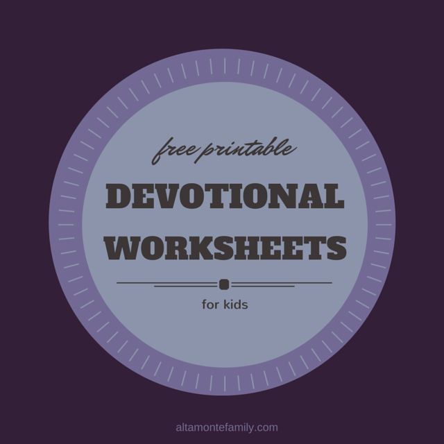 free printable devotional worksheets for kids