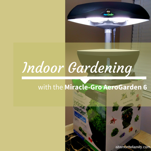 indoor gardening with aerogarden 6 by miracle-gro