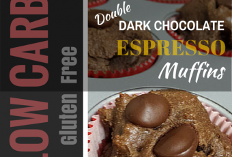 Low-Carb Gluten-Free Breakfast Recipe: Double Dark Chocolate Espresso Muffins
