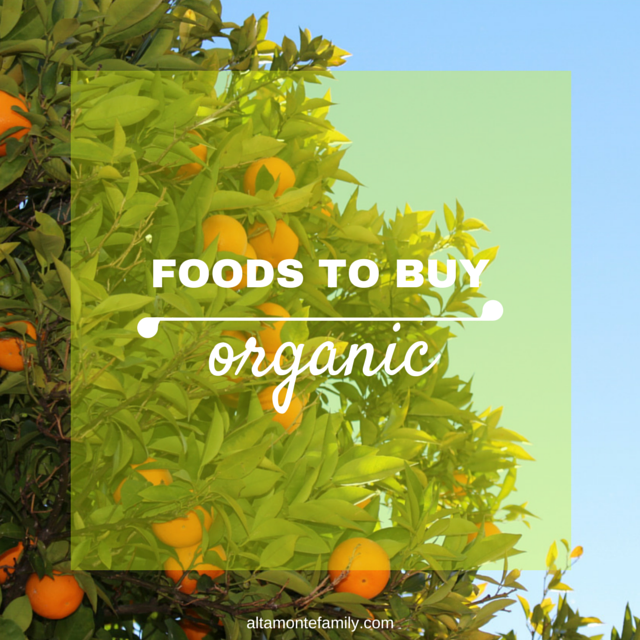 foods to buy organic when making baby food