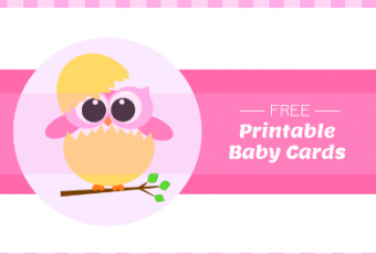 Free Printable Baby Cards – Owls
