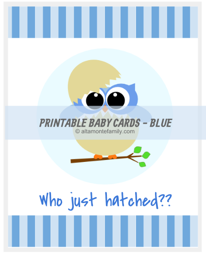 Printable Baby Card Blue Owl_For Web