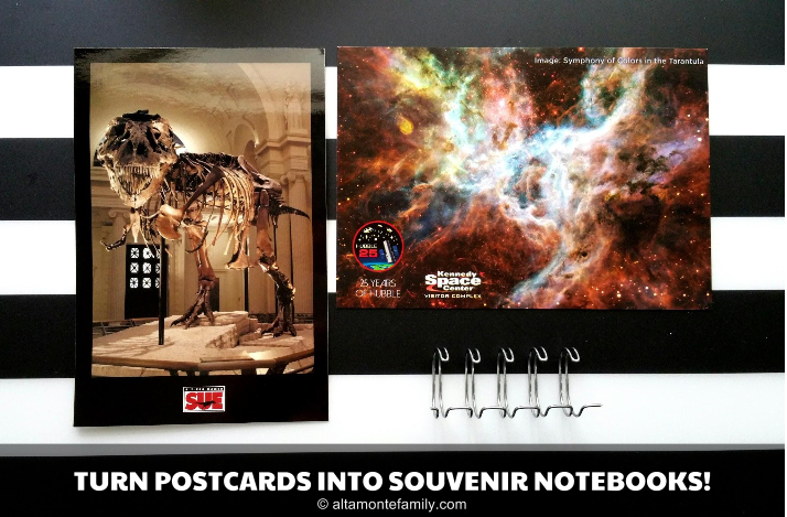 Turn Postcards Into Souvenir Notebooks With Index Cards and the Cinch by We R Memory Keepers