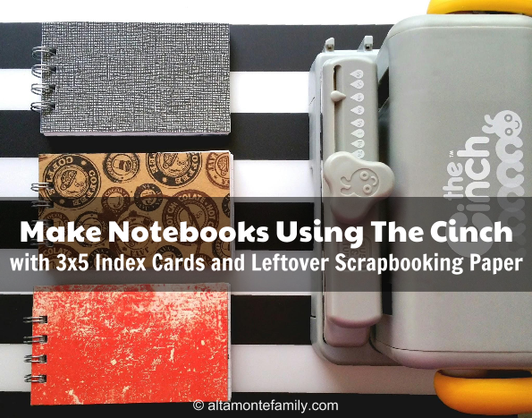 What To Do With Leftover Scrapbooking Paper_Make Notebooks Using We R Memory Keepers Cinch and Index Cards