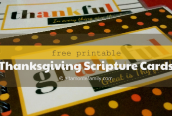 4 Free Printable Thanksgiving Scripture Cards