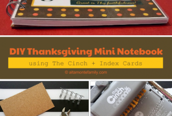 How To Make Mini Notebooks With The Cinch & Index Cards