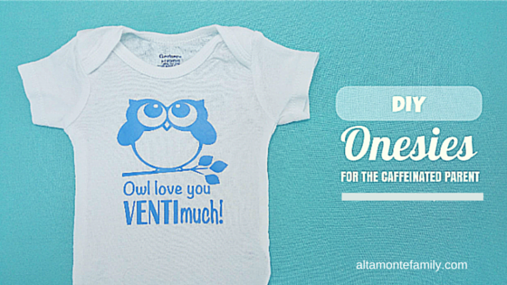 diy onesies made with cricut explore air and iron-on vinyl