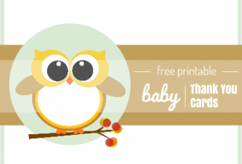 3 Free Printable Baby Owl Thank You Cards {Fall Edition}