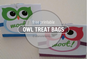 2 Free Printable Owl Treat Bags