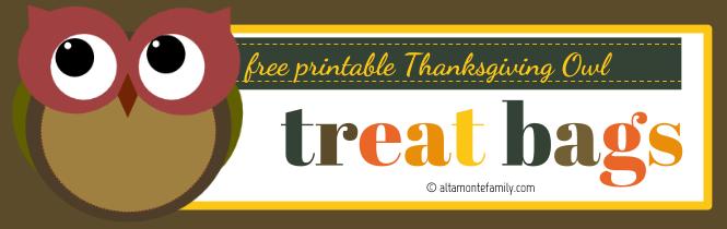 Free Printable Thanksgiving Owl Treat Bags_Autumn Plum