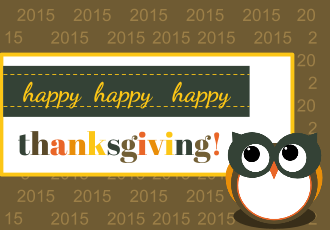 4 Free Printable Thanksgiving Owl Lunch Box Notes and Labels