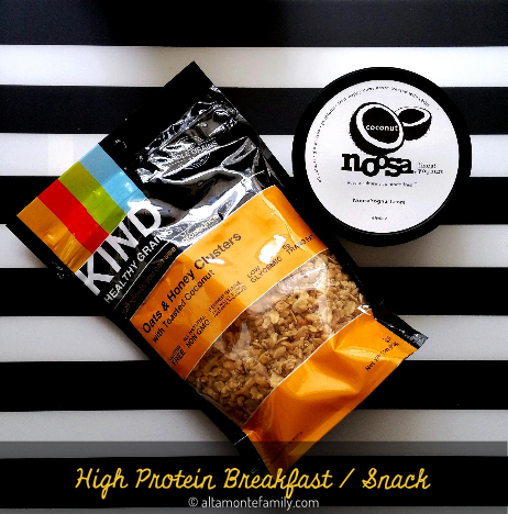 High Protein Breakfast Snack On The Go Noosa Coconut Yogurt Kind Healthy Grains Granola