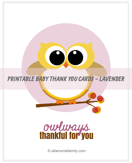 graphic about Free Printable Thank You Cards for Teachers titled Cost-free Printable Boy or girl Owl Thank Your self Playing cards Altamonte Loved ones