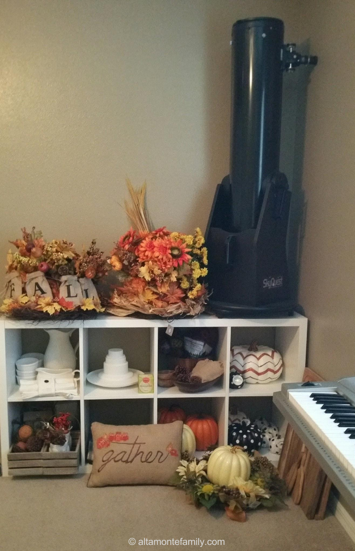 Fall Decor Storage and Organization