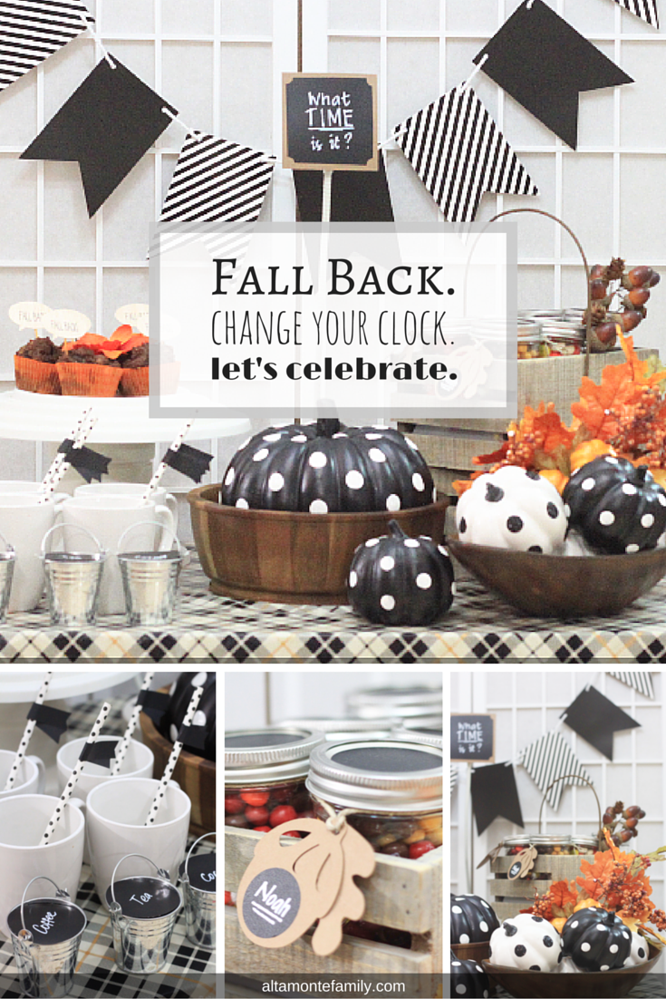 Fall Back Time Change Party Table Ideas