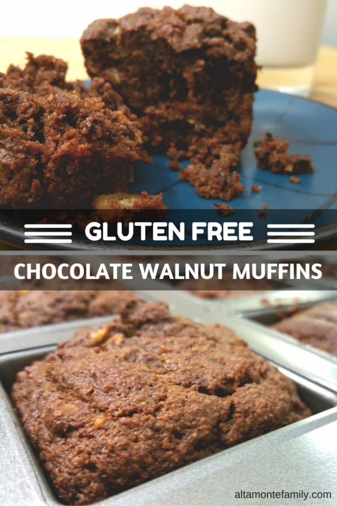 Gluten Free Chocolate Walnut Muffin Recipe Made With Almond Flour