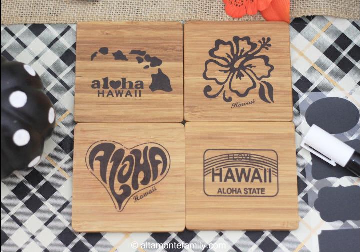 Hawaii Wooden Coasters