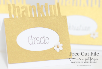 Cricut Explore Thanksgiving Project + Free Pop-Up Place Card Cut File
