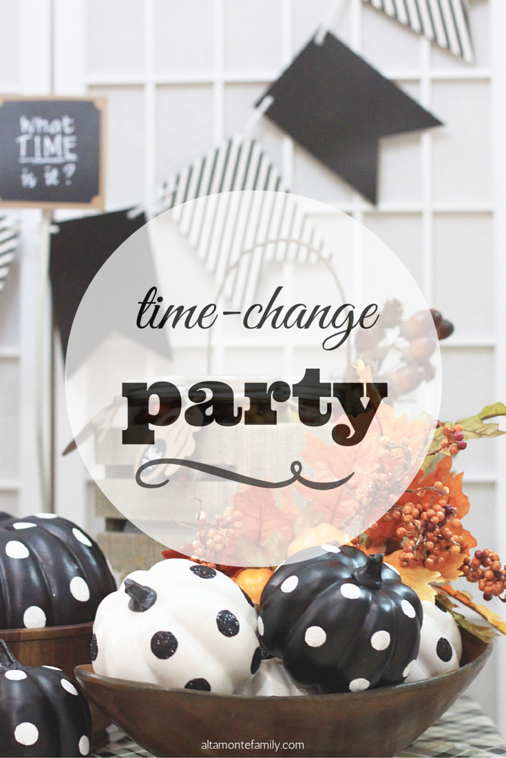 Fall Back Time Change Party Idea