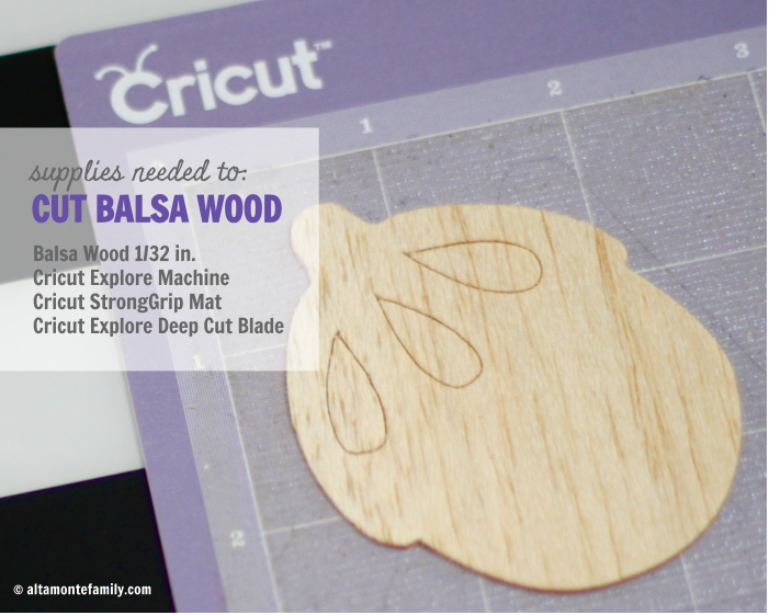 How to cut balsa wood with cricut explore altamonte family