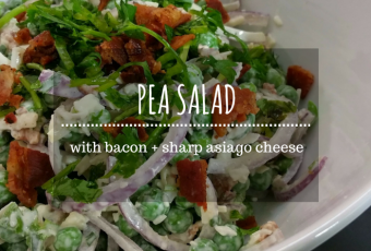 Pea Salad With Bacon And Sharp Asiago Cheese {Unabridged}