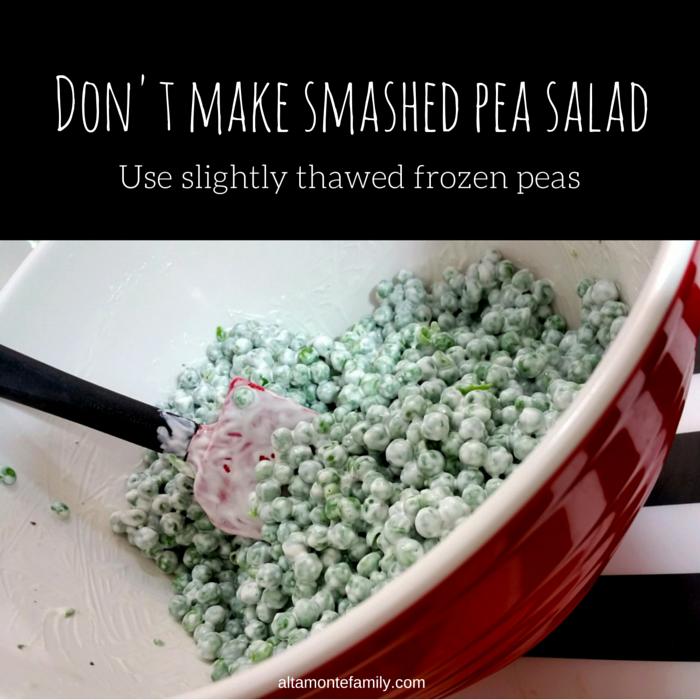 Making Pea Salad