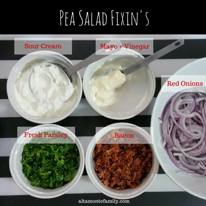 Pea Salad Recipe Fixins