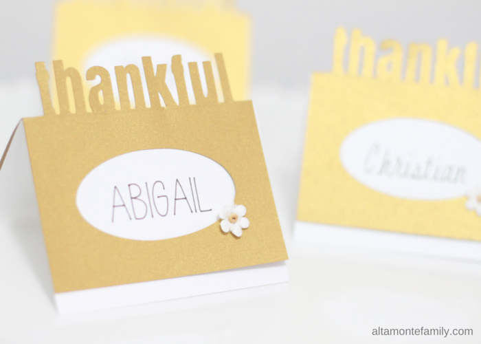 Cricut Explore Thanksgiving Pop-Up Place Card - Free Digital Cut File
