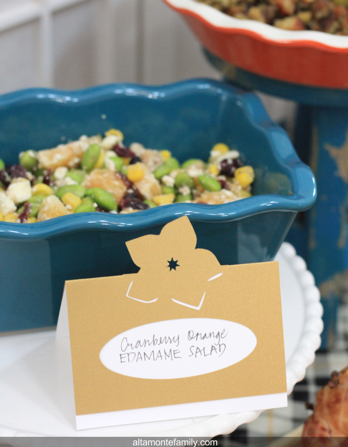 Refreshing Edamame Salad with Dried Cranberries Oranges and Walnuts
