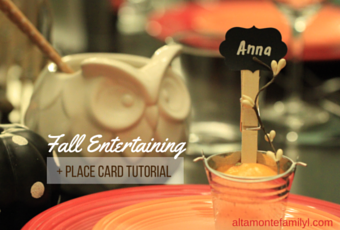 Fall Entertaining + Place Card Tutorial