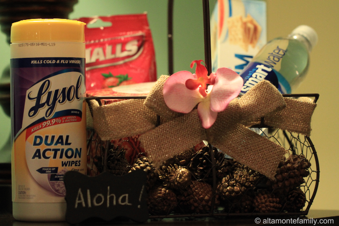 Be prepared for guests during the cold season with this beautiful Aloha Welcome Basket