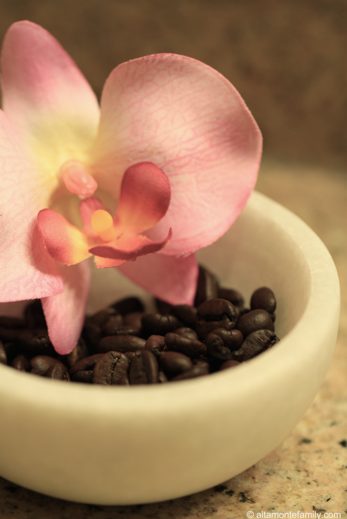 Add some style to your guest bathroom with coffee beans