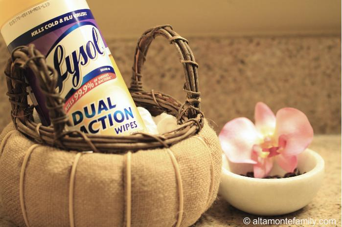 Prepare your guest bathroom with Lysol