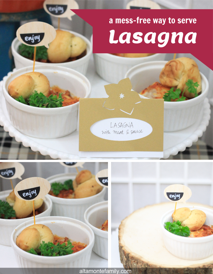 Mess-Free Way To Serve Lasagna