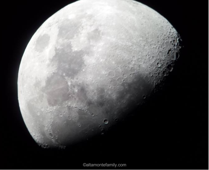 Photo of moon using Orion XT8 Telescope