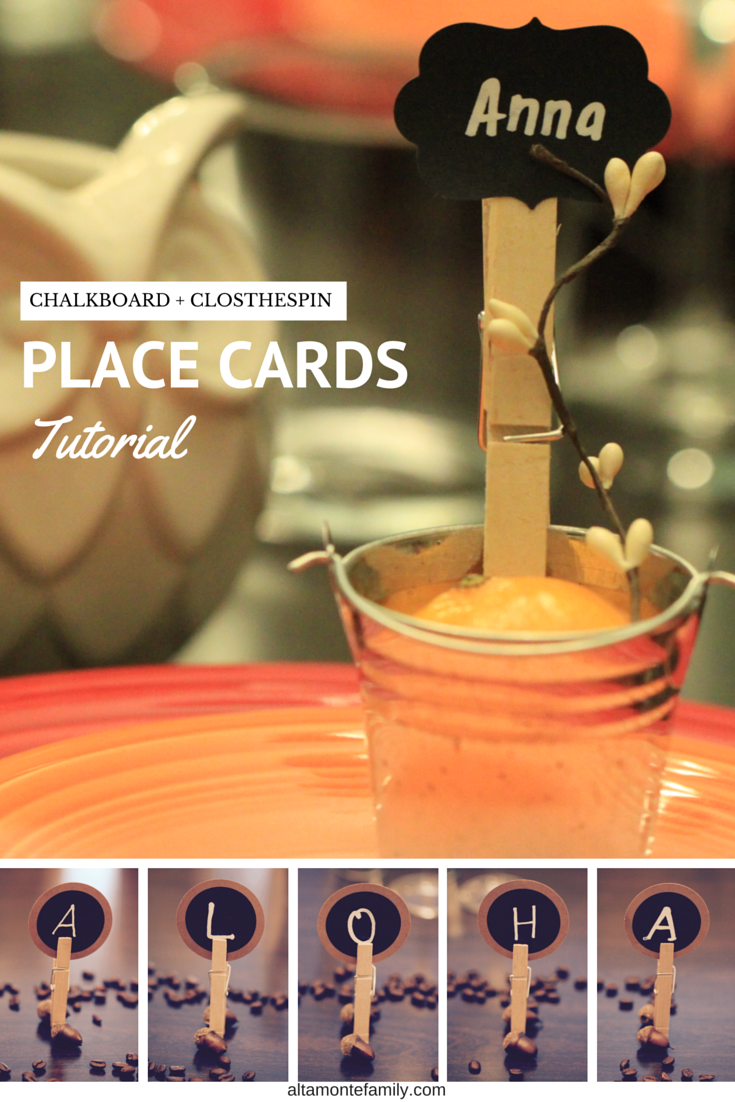 These place cards are super easy to make