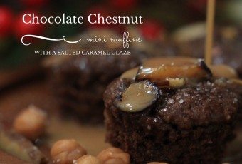 Flourless Chocolate Chestnut Mini Muffins With Salted Caramel Glaze