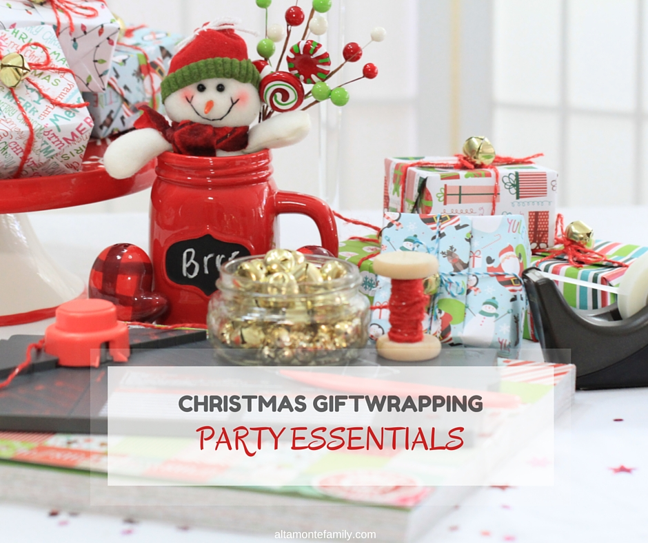 Christmas Giftwrapping Party with Gift Box Punch Board