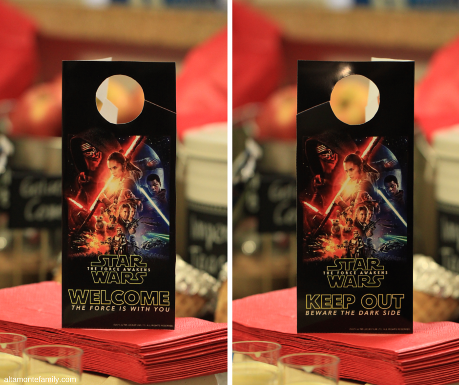Star Wars Free Printable Door Hanger