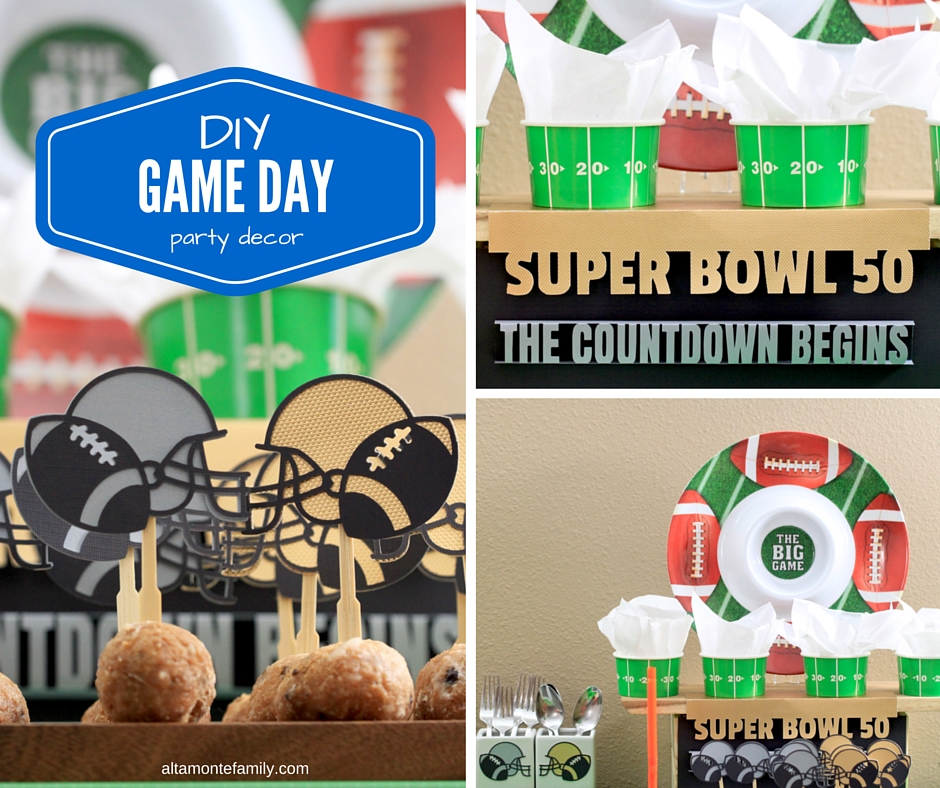 DIY Football Party Decorations for Super Bowl 50