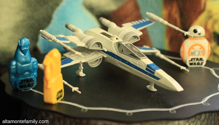 The toys from the cereal boxes (X-Wing not included)