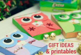 DIY Holiday Owl Craft Bar + 3 Free Printable Gum Wrappers