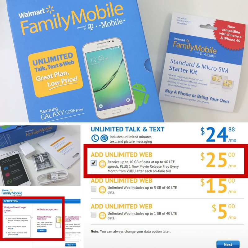Walmart Family Mobile PLUS Plan Online Activation